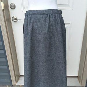 Pendleton Virgin Wool Grey Skirt Pleated